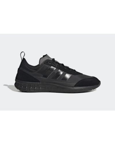 Ażurowe czarne półbuty sznurowane Adidas