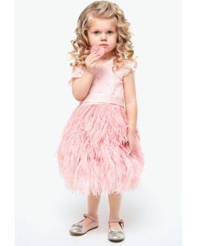 Платье гипюровое с перьями Balloon And Butterfly