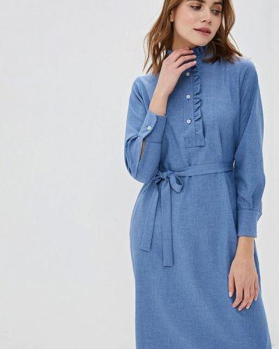Платье платье-рубашка синее Maison De La Robe