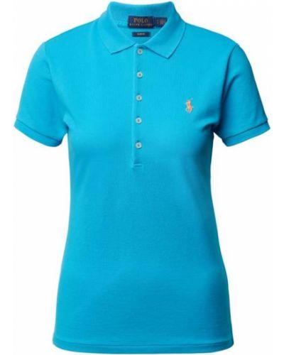 T-shirt bawełniana - turkusowa Polo Ralph Lauren