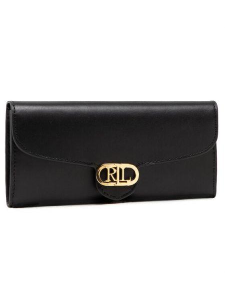 Czarny portfel oversize Lauren Ralph Lauren