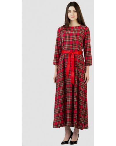 Платье красный осеннее Intrico