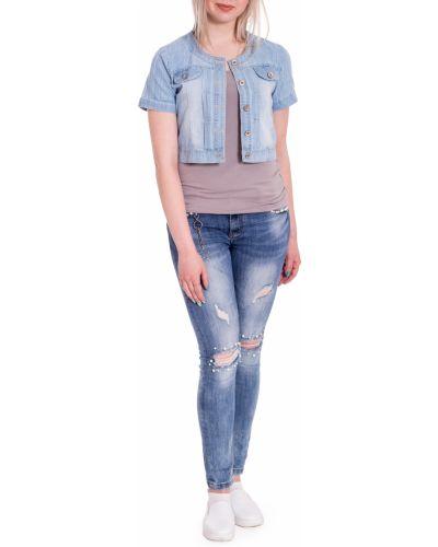 Джинсовая куртка летняя голубая Lacywear