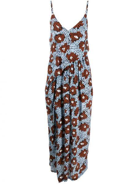 Sukienka midi czerwona z jedwabiu Christian Wijnants