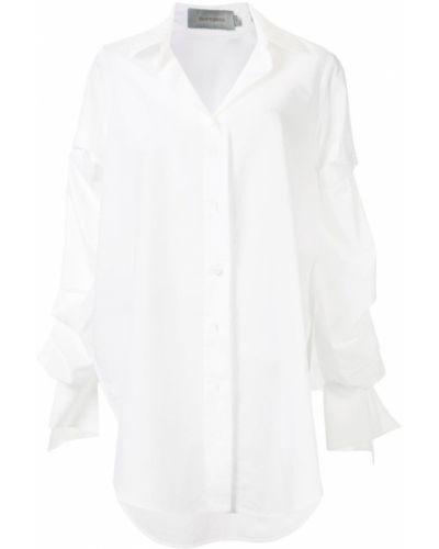 Белая рубашка с воротником свободного кроя на пуговицах Silvia Tcherassi