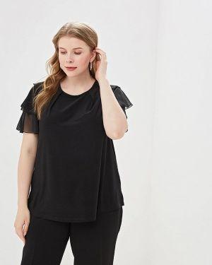Блузка с коротким рукавом весенний черная Olsi