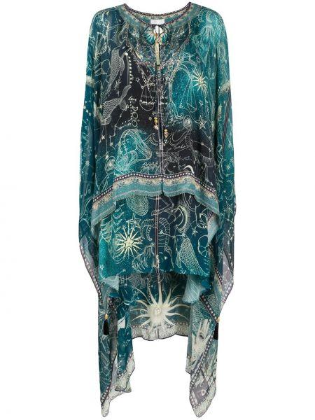Платье с абстрактным принтом с открытыми плечами Camilla