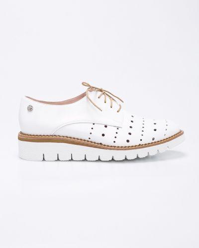 Туфли на танкетке на шнуровке кожаные Solo Femme
