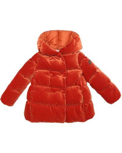 Оранжевая пуховая куртка Il Gufo