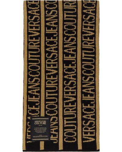 Złoty szalik - biały Versace Jeans Couture