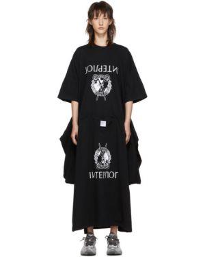 Платье с вышивкой вязаное Vetements
