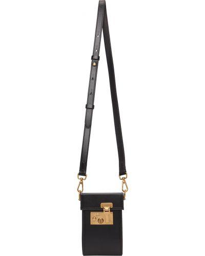 Czarna złota torebka Dunhill