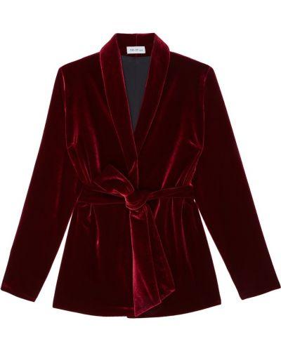 Бархатный красный костюм оверсайз ли-лу