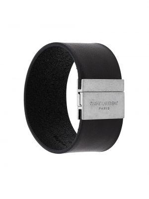Кожаный браслет итальянский кафф Saint Laurent