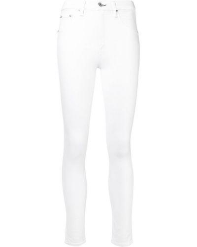 Джинсовые зауженные джинсы - белые Rag & Bone/jean
