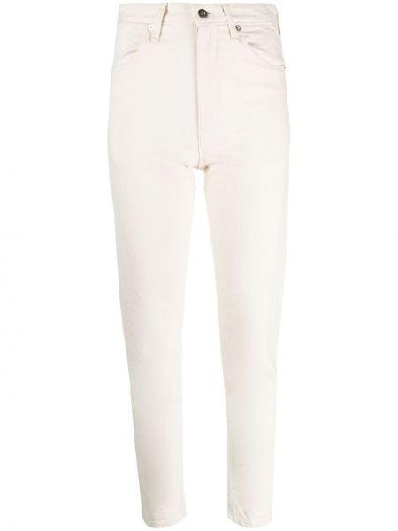 Niebieskie jeansy bawełniane z paskiem Jil Sander