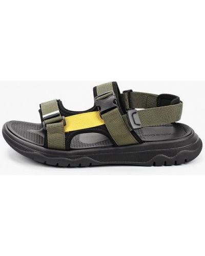 Текстильные сандалии хаки Paolo Conte