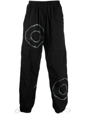 Czarne spodnie z wysokim stanem z printem Aries