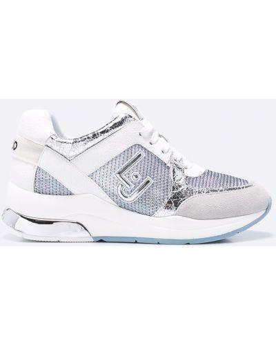 Кроссовки на платформе текстильные белый Liu Jo