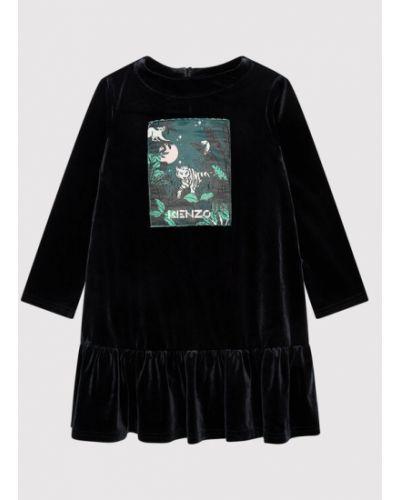 Czarna sukienka casual Kenzo