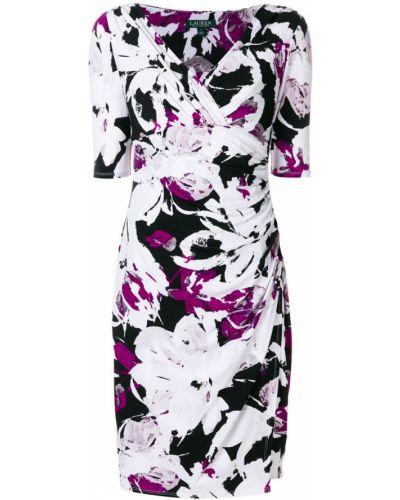 Платье с V-образным вырезом приталенное Ralph Lauren