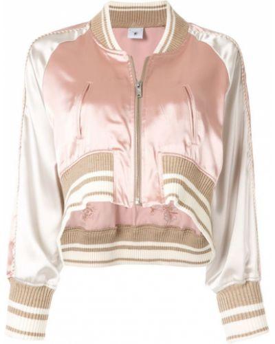 Розовая короткая куртка с манжетами Maison Mihara Yasuhiro