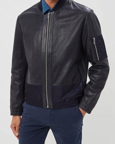 Кожаная куртка осенняя синяя Hugo Hugo Boss