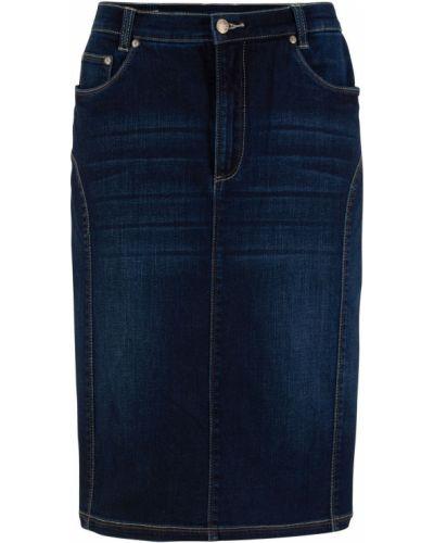 Джинсовая юбка темный Bonprix