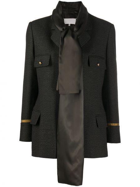 Зеленый шерстяной пиджак с карманами с лацканами Maison Margiela