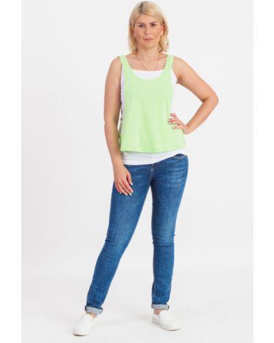Топ джинсовый зеленый Lacywear
