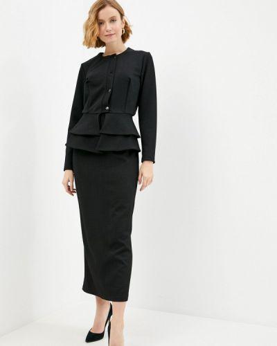 Костюмный черный юбочный костюм Sahera Rahmani
