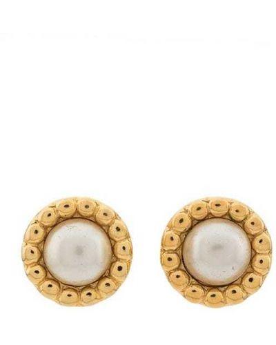 Серьги с жемчугом винтажные золотой Chanel Vintage