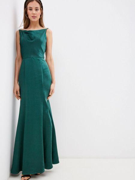 Вечернее платье зеленый весеннее Chi Chi London