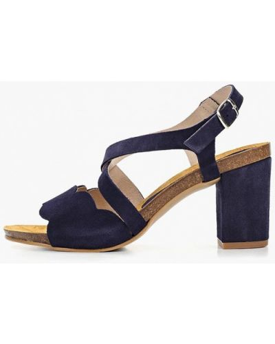 Босоножки на каблуке синий Dino Ricci