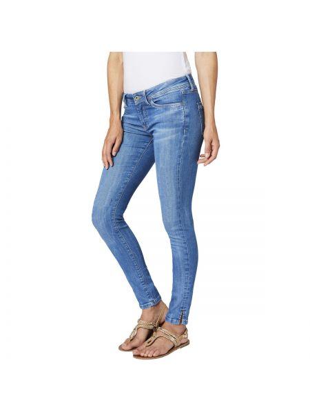 Синие джинсы-скинни Pepe Jeans