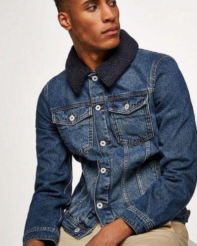 Синяя джинсовая куртка Topman