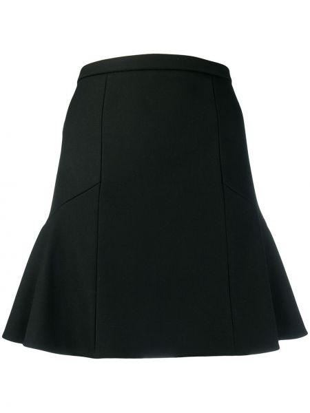 Юбка мини с баской черная Red Valentino