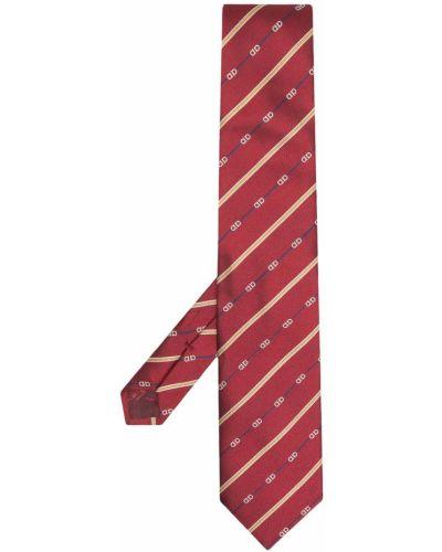 Красная шелковая резинка для волос с нашивками Salvatore Ferragamo