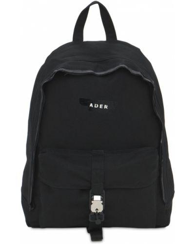 Czarny plecak z klamrą bawełniany Ader Error