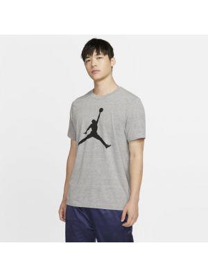 Szary t-shirt oversize z printem Nike