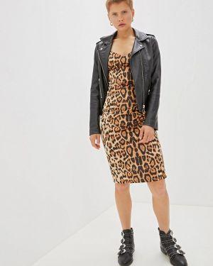 Платье футляр бежевое Gepur