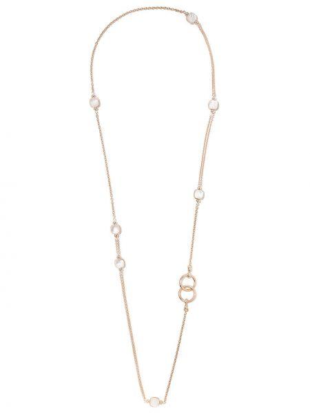 Biały złoty naszyjnik perły Pomellato