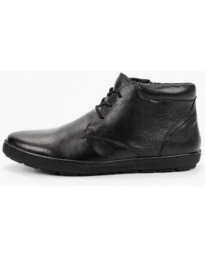 Черные кожаные ботинки Pazolini