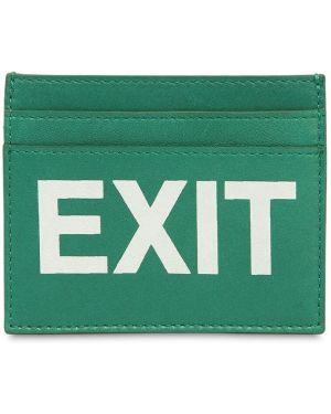 Zielony portfel skórzany Vetements