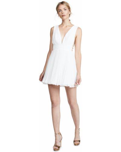 Открытое белое платье мини с подкладкой Fame And Partners