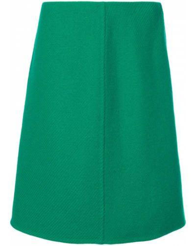 Юбка-трапеция классическая зеленый Prada