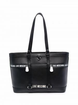 Черная сумка из полиуретана Love Moschino