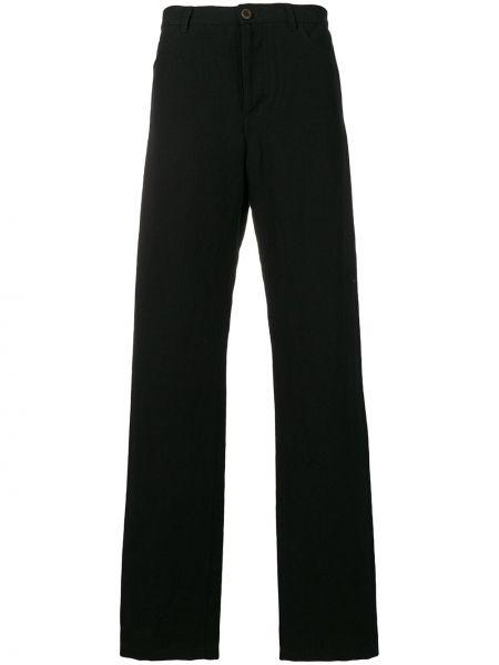 Черные прямые брюки с поясом на пуговицах новогодние Individual Sentiments