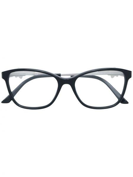 Черные очки прямоугольные металлические Swarovski Eyewear