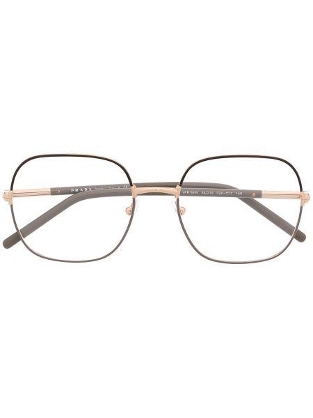 Oprawka do okularów metal złoto Prada Eyewear